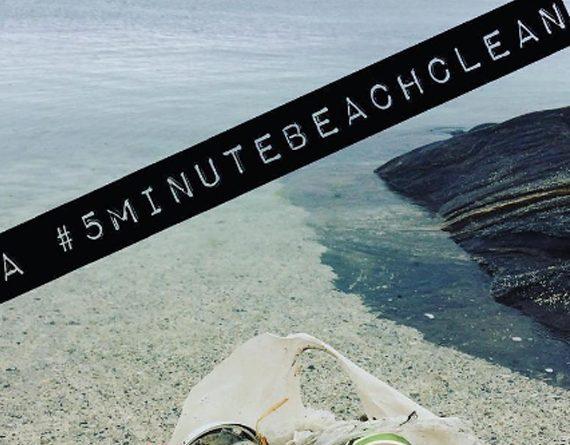 «5minutebeachcleanup» vous encourage à nettoyer les plages en 5 minutes