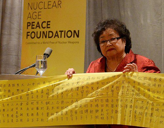 Setsuko Thurlow, la survivante d'Hiroshima pour l'abolition des armes nucléaires